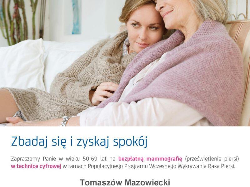 Badania mammograficzne w Tomaszowie