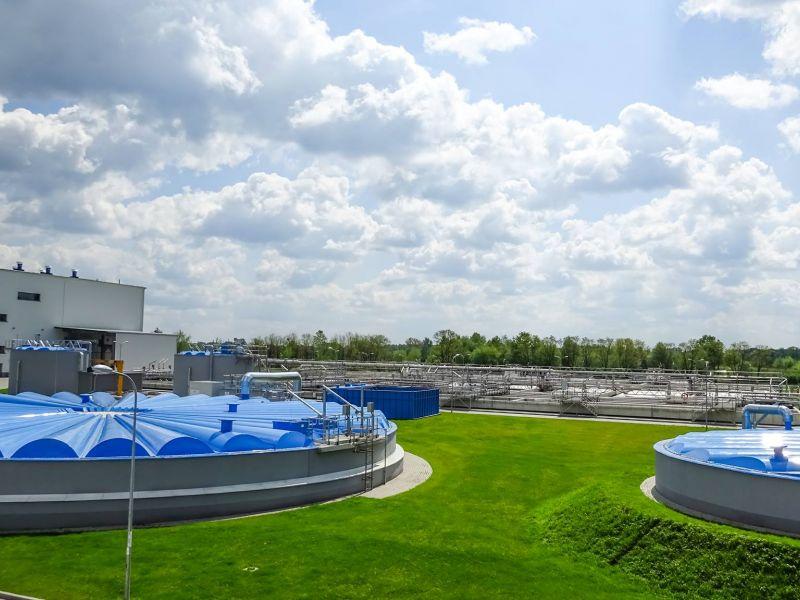 Na zdjęciu instalacja na terenie Zakładu Gospodarki Wodno-Kanalizacyjnewj w Tomaszowie Mazowieckim