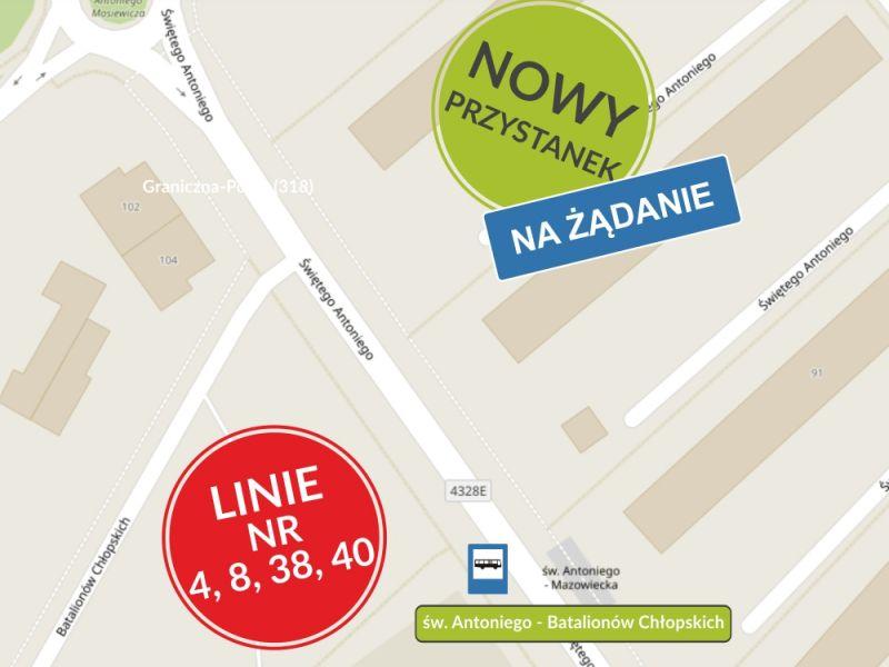 Nowy przystanek MZK na ul. św. Antoniego