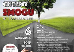 """""""Nie chcemy smogu w Tomaszowie"""" – zapraszamy na pl. Kościuszki"""