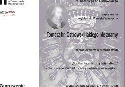 Tomasz hr. Ostrowski jakiego nie znamy